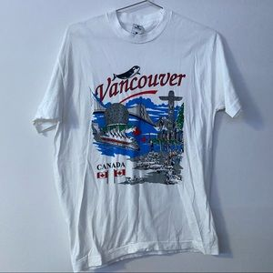 Vancouver, Canada graphic white tee shirt top